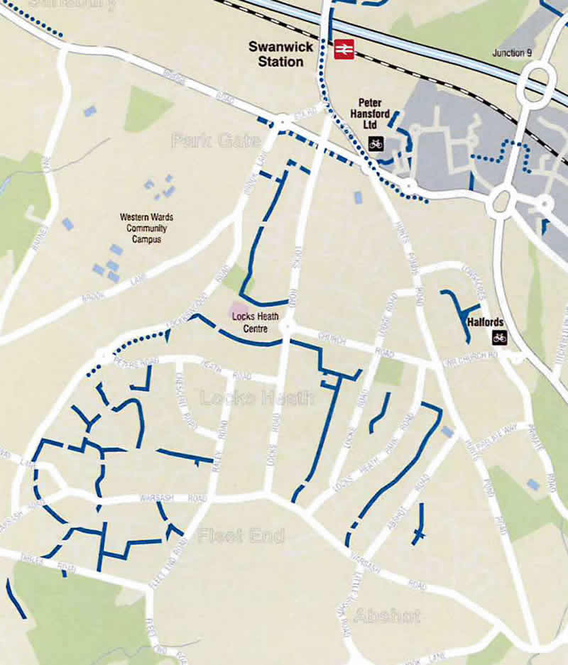 cycle map to school